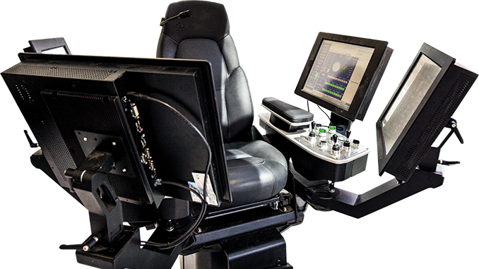 New cyber chairs, like this one from an advanced AC rig, collect data from thousands of sensors from the harshest, dirtiest and greasiest areas of the rig. This level of control makes today's rigs the fastest and most efficient they've ever been.